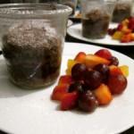 Dessert Himmel: Schokoladen-Kuchen mit weichem Kern