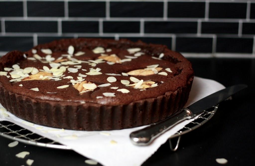 Die Schoko-Glücksformel: Birnen-Schokoladen-Tarte