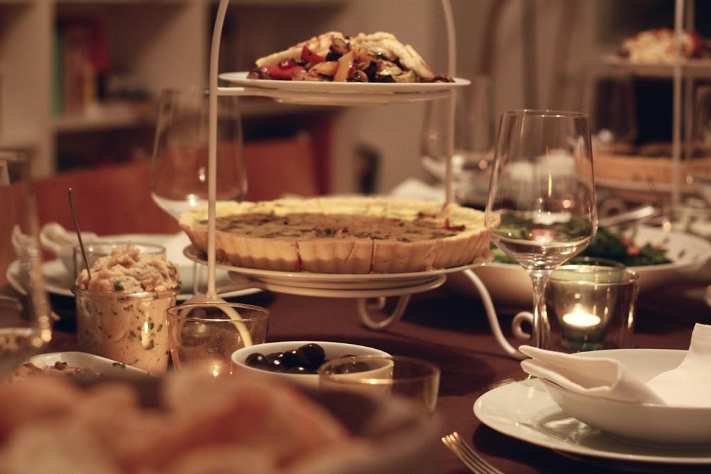 Wenn Vegetarier zum Essen kommen: Das Menü.