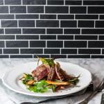 Steaksalat mit gerösteten Karotten