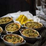 Auberginenauflauf mit gegrillter Polenta