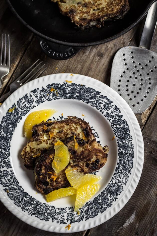 French Toast mit Butterstollen und Orange