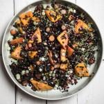 Wintersalat mit Reis, Kürbis und Granatapfel