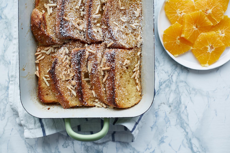 Gebackener French Toast mit Orangen