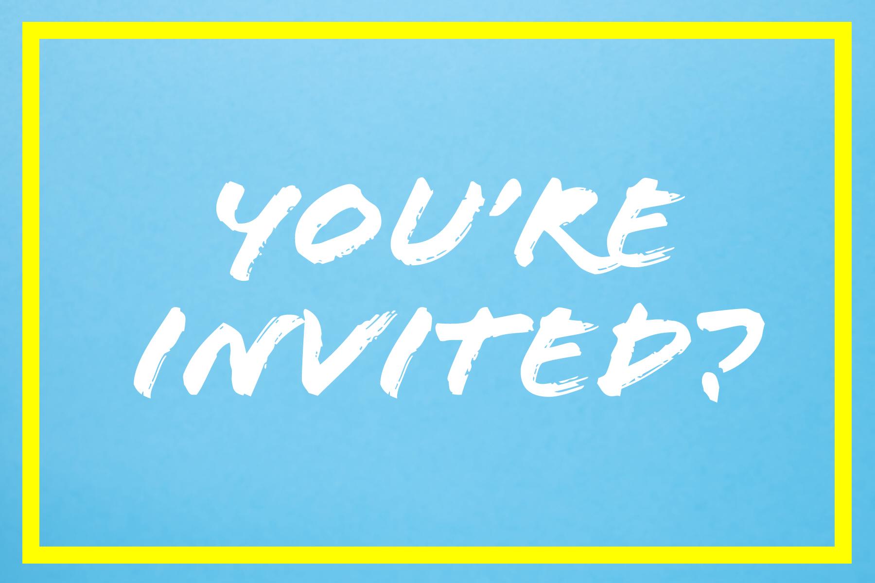 Fest(e) feiern: Wen man einladen sollte!