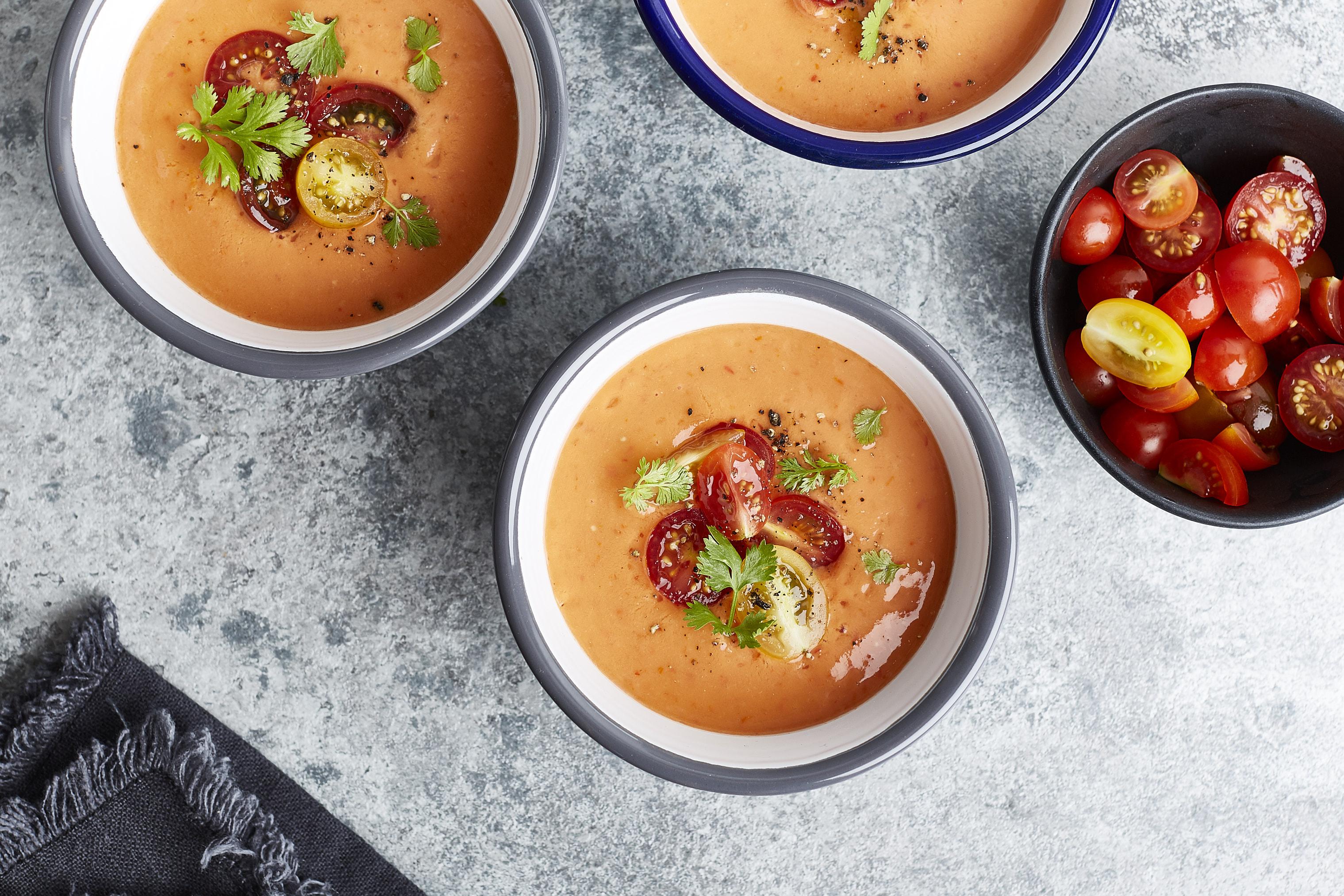 Gazpacho mit Tomaten und Nektarinen