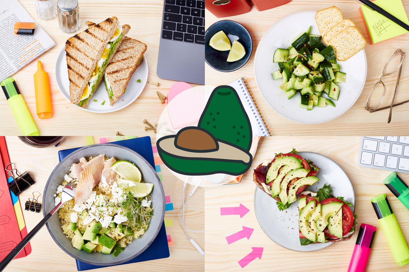 mittagessen-büro-schreibtisch--avocado