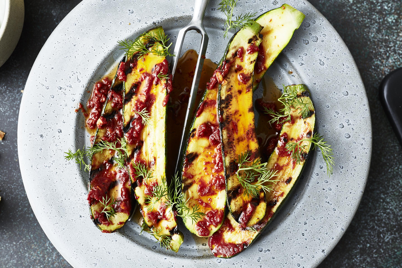 zucchini-harissa-schnelles abendessen- 1