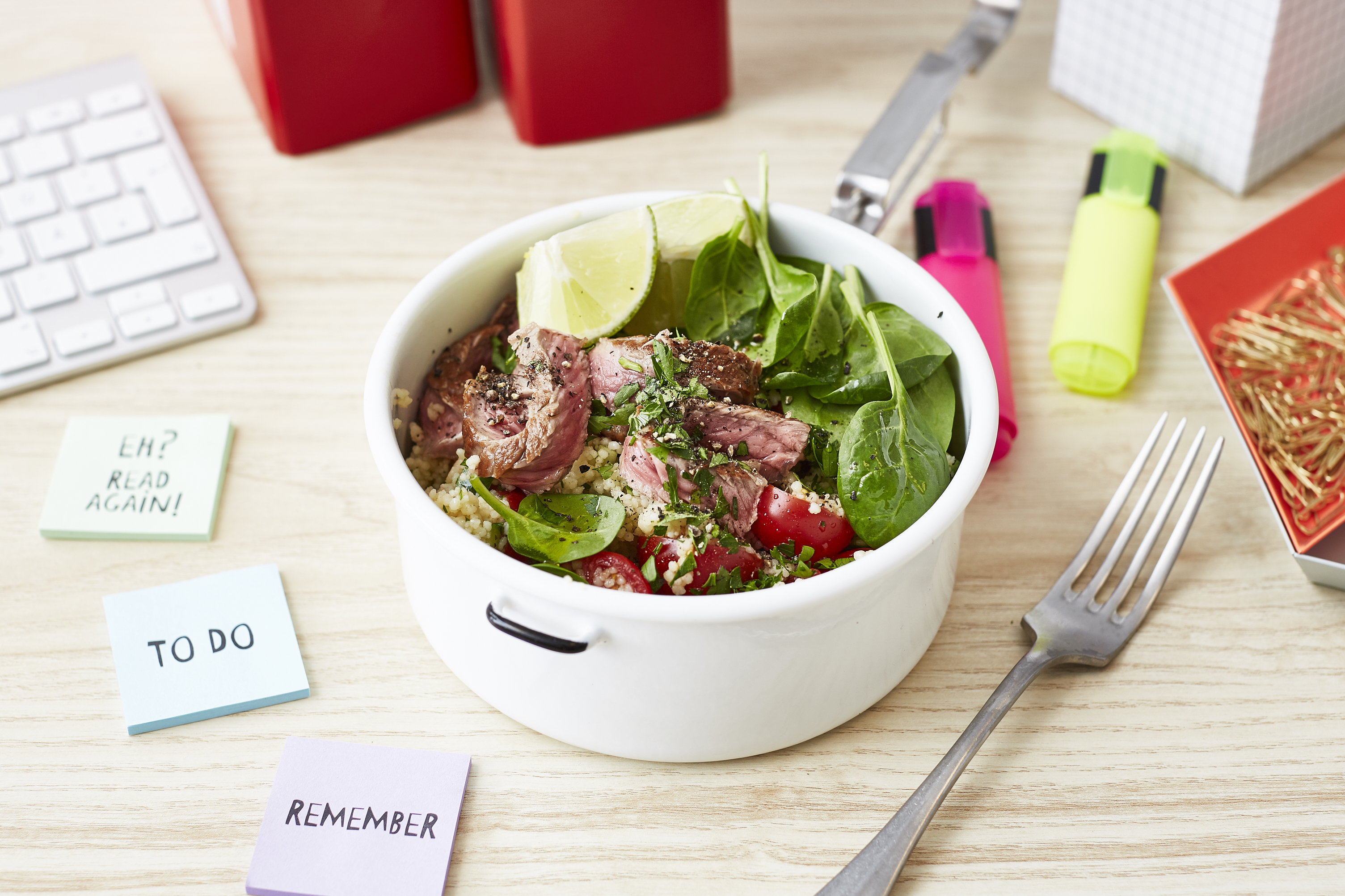 Lunch al Desko: Steak-Bowl mit Couscous