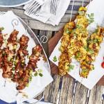 Nennt mich einen Spießer! Gegrillte Hühner-Spieße mit Joghurt-Marinade und süß-scharfe Schweine-Spieße