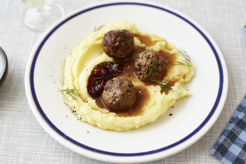 Lammfleischbällchen mit Kartoffelpüree