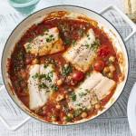 One Pot Monday #4: Fisch-Pfanne mit Kichererbsen und Tomaten