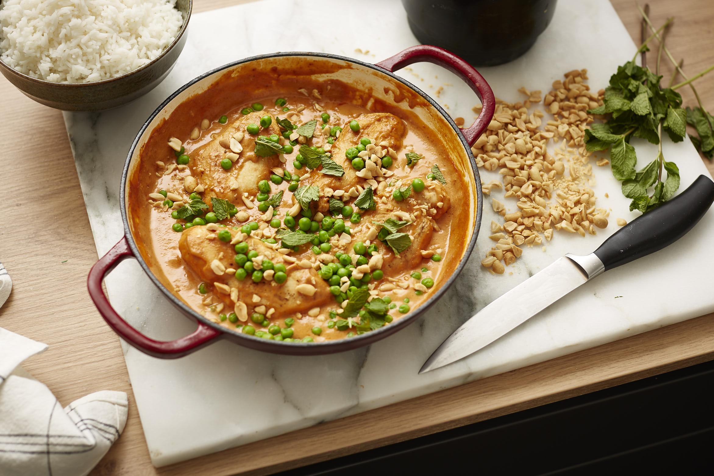 Schnelle Küche: Hühnchen in Erdnusssauce