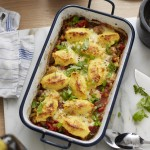 Überbackene Polentanockerl mit Ofengemüse