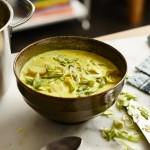 Einfache Curry-Suppe mit Hühnchen