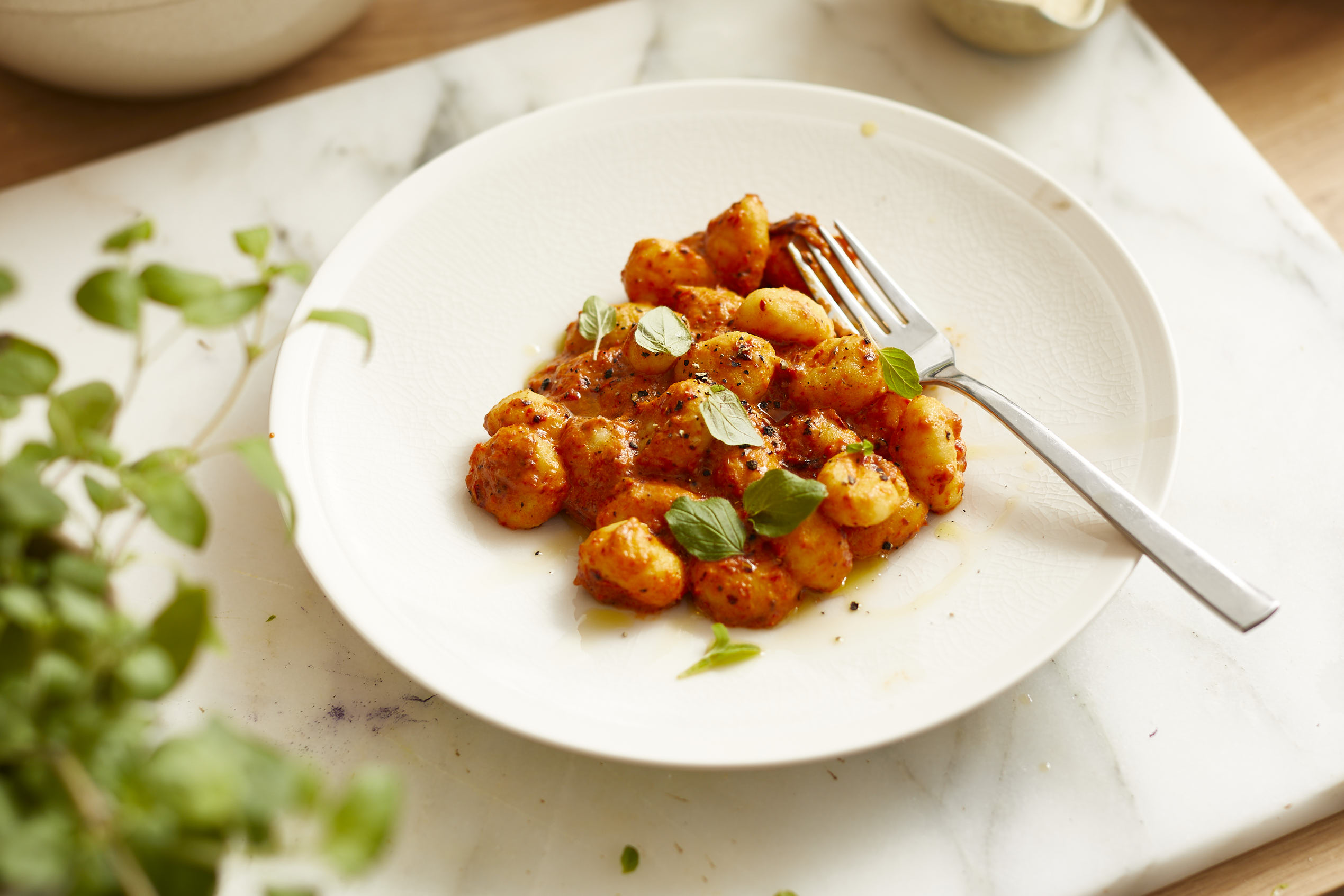 Gnocchi mit gerösteter Paprikasauce