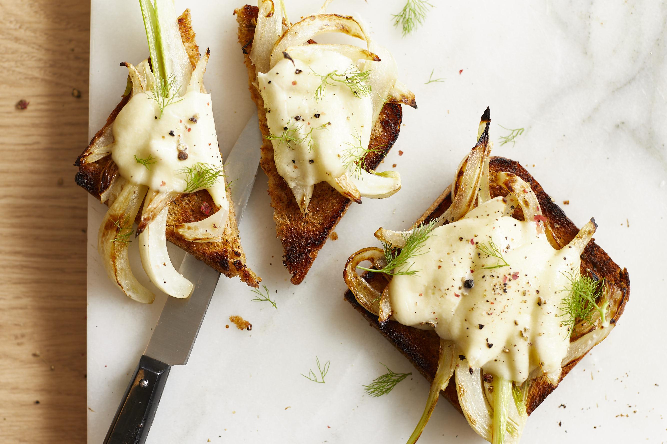 Fenchel-Mozzarella-Toast-vegetarisch-