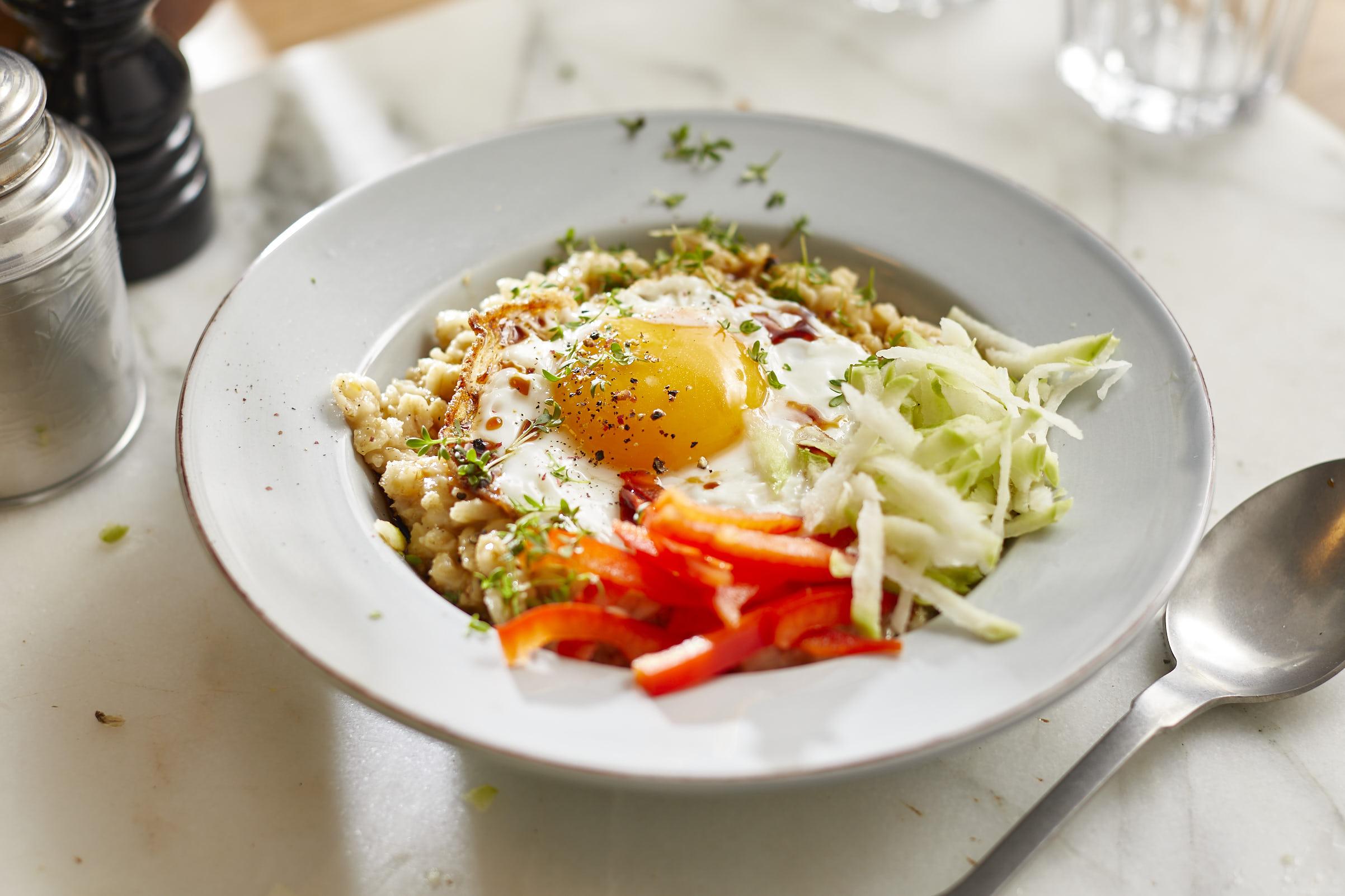 pikantes-porridge-ei-gemüse-rezept-