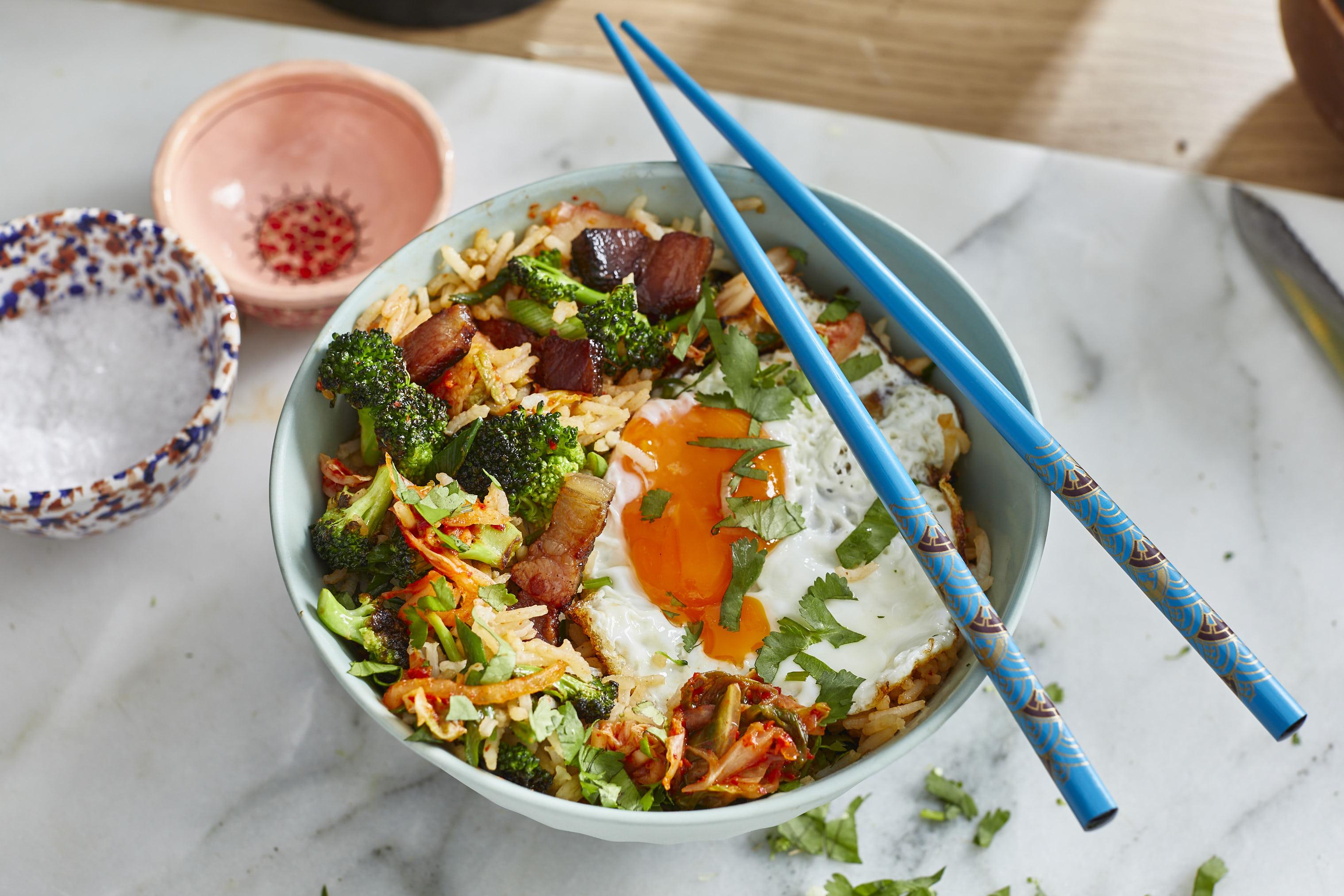 Fried Rice mit Speck und Kimchi