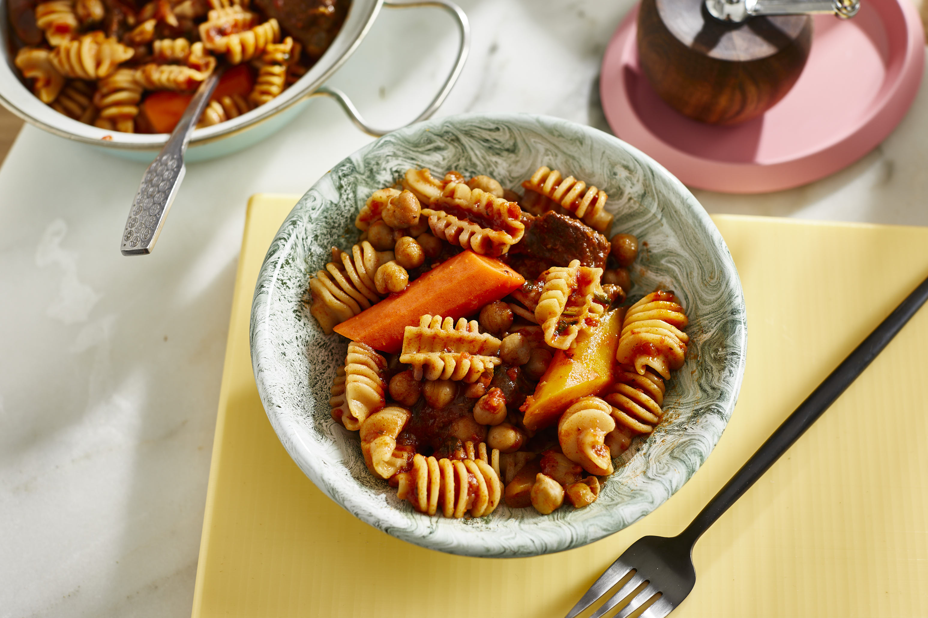 one pot pasta-pasta-kichererbsen-einfach-rezept-