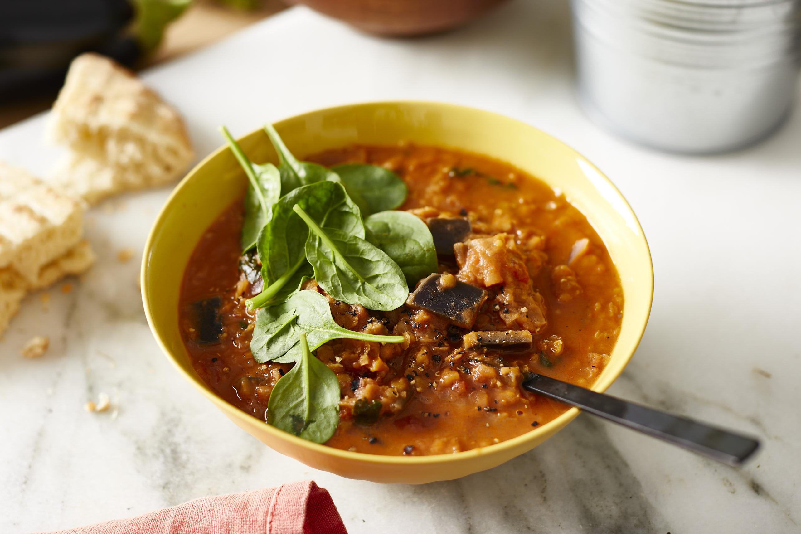 Thermomix: Auberginen-Linsen-Curry