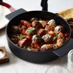 Fleischbällchen mit Kürbis und aromatischer Tomatensauce